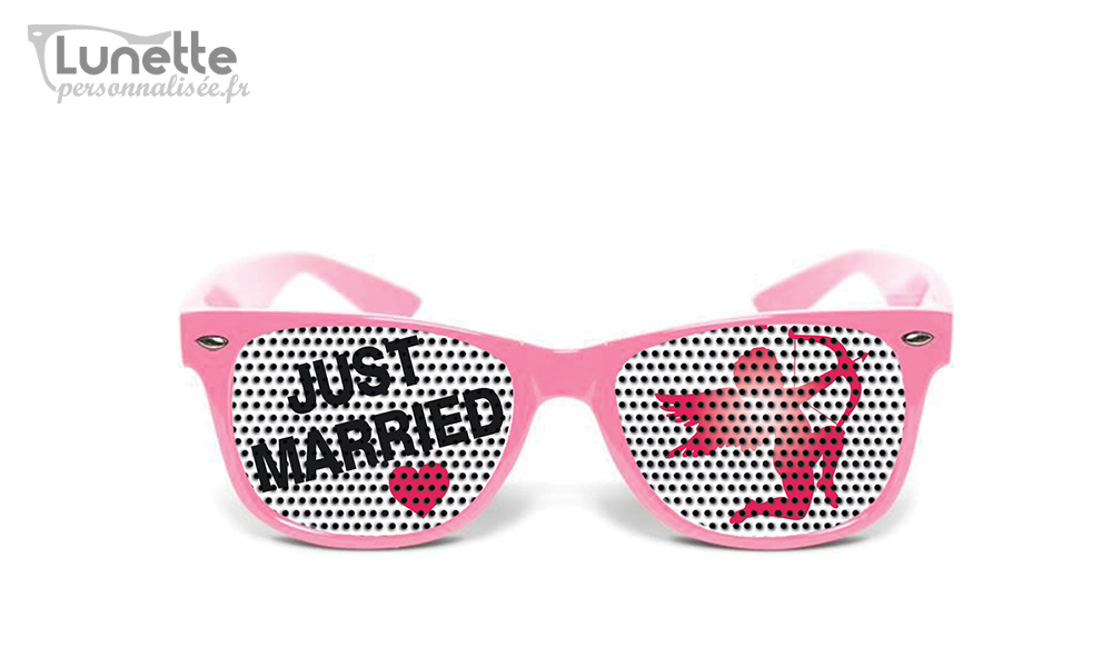 Lunette mariage Just-married