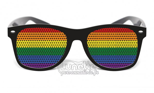 lunette noir drapeau rainbow