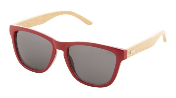 Lunette personnalisable bambou rouge