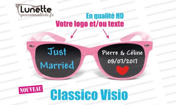 lunettes publicitaires visio montures roses