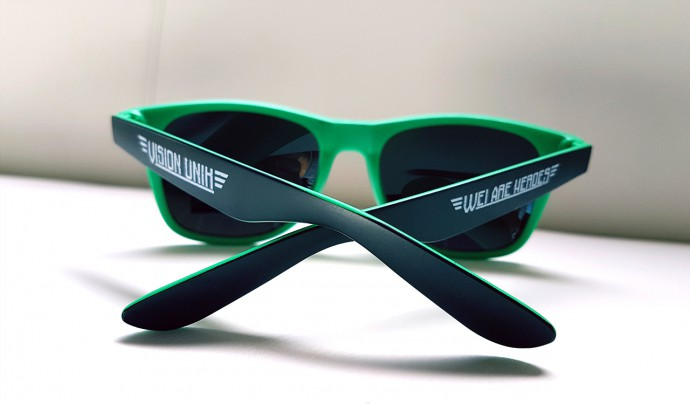 lunette personnalisee modele ibiza monture verte opticien wei are heroes