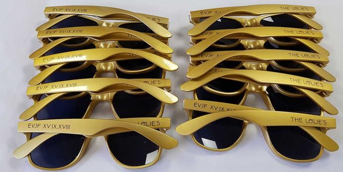 lunettes personnalisée gold pour un evjf
