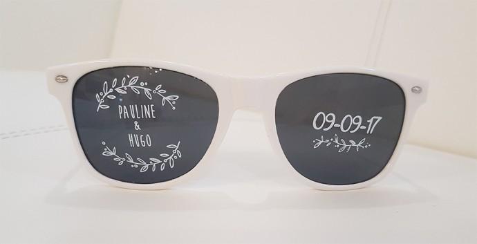 lunettes personnalisées pour le mariage de pauline et hugo