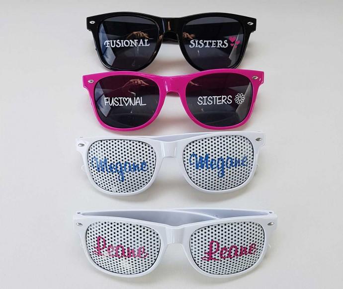 lunettes réalisées pour les fusional sisters -youtubeuses
