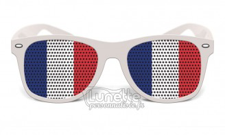 Lunette drapeau France
