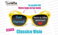 lunettes publicitaires visio montures jaunes