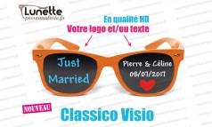 lunettes publicitaires visio montures oranges