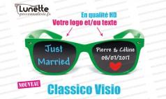 lunettes publicitaires visio montures vertes