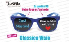 lunettes publicitaires visio montures bleues