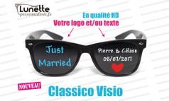 lunettes publicitaires visio montures noires